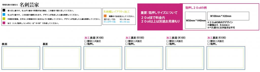 名刺芸家データフォーマット